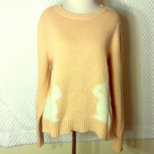 LC Lauren Conrad Pink Knit Bunny Sweater